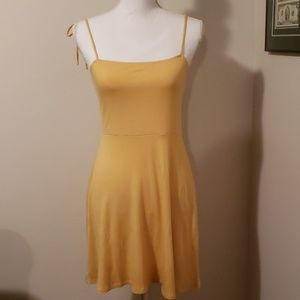 Forever 21 Yellow Knit Dress